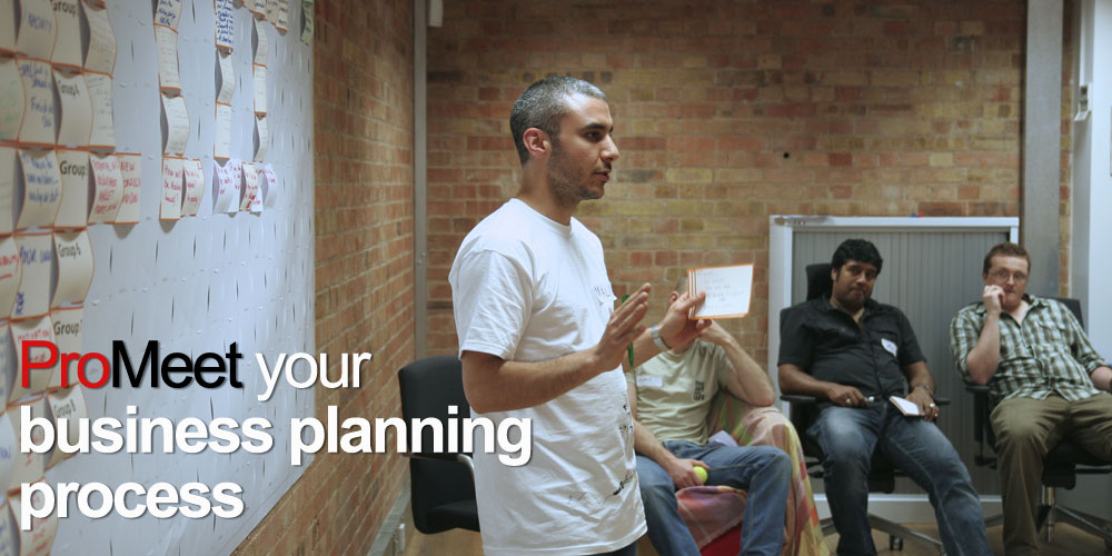facilitating a business planning meeting